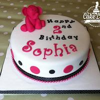 Elephant Birthday Cake by The Cake Lady