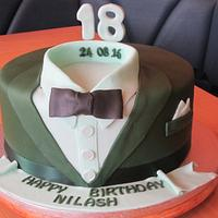 Suit and Shirt  Birthday Cake