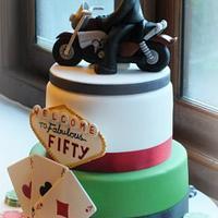 Las Vegas / Biker themed cake by Louise Jackson Cake Design