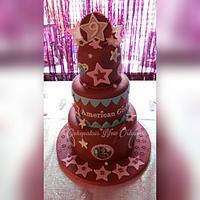 American Girl doll cake