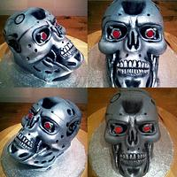 Terminator skull cake