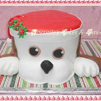 Christmas - Doggie Cake by quennie