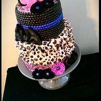 Cheetah print petals and makeup