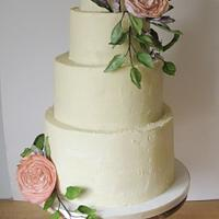 Rustic soft colours and foliage wedding