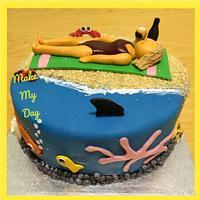 Beach Babe Cake