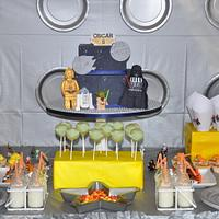 Lego Star Wars dessert table