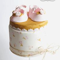 Pink & Gold Baby Shoes 1st Birthday
