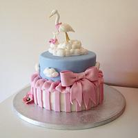My first every christening cake!