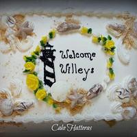 Welcoming Friends to Hatteras Island by Donna Tokazowski- Cake Hatteras, Hatteras N.C.