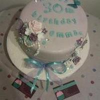 Lilac birthday cake by Jenna
