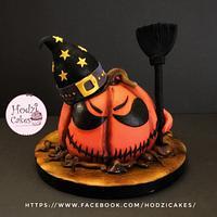 Halloween Pumpkin Cake🎃💀🖤