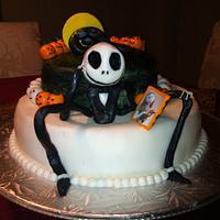 Jack Skellington cake by MORENITA