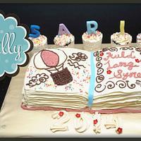 buttercream book cake