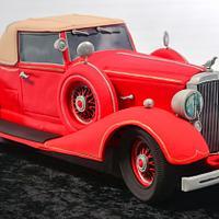 3D Vintage Car Cake