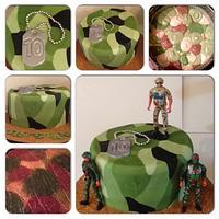Camouflage cake!