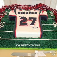 Patriots Jersey grooms cake
