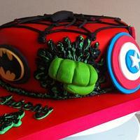 Superhero cake by Carrie