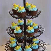 Duck Baby Shower Cupcake