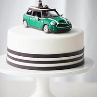 Dog and Mini Cooper Groom's Cake