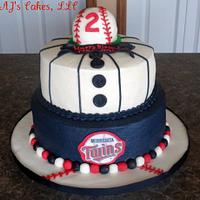 Minnesota Twins Baseball Cake