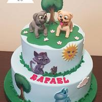 Puppy dog pals :D cake