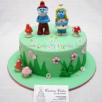 Smurfs cake ...