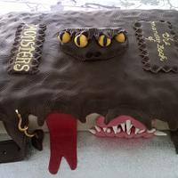 Harry Potter Monster Book of Monsters birthday cake