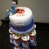 RAF themed Cake and Cupcakes by CodsallCupcakes