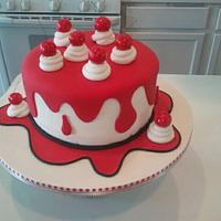 Drippy Cherry Cake by Kristi's Cakery