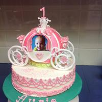 Princess carrage birthday cake