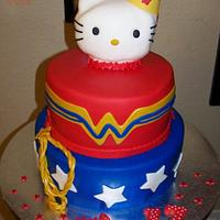 Hello Kitty Wonder Woman Birthday