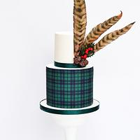 Feathers and tartan