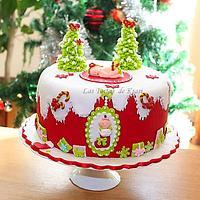 christmas baby cake