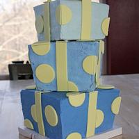 Stacked Gift Cake