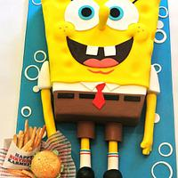 Spongebob, Krabby Patties, and French Fries