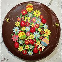 Flowery Easter egg tart
