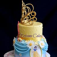 Disney Princesses Cake with Edible Tiara