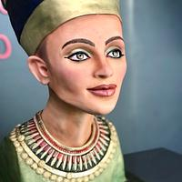 Nefertiti Bust Cake 'Egypt Land of Mystery Collabration'