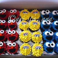 Elmo - First Birthday Cake/Cupcakes by ALotofSugar