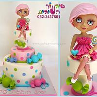 blythe doll and candy cake