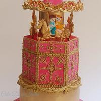 Royal icing Carousel Cake