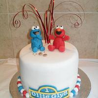 Elmo and the Cookie Monster