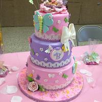 Sweet butterfly baby shower cake!