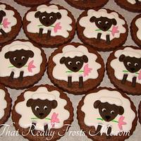 Little Lamb Easter Cookies by Frostine