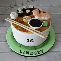 Sushi Cake by Cakes of Art by Vicky