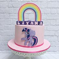 My little pony cake, the twilight sparkle