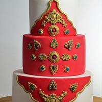 Indian wedding cake!!