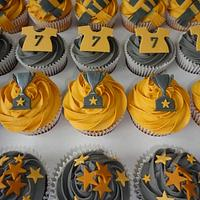 Football charity cupcakes for KUDOS