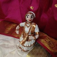 Mohinniattam folk dance doll cake