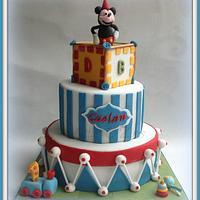 Mickey themed 1st Birthday Cake